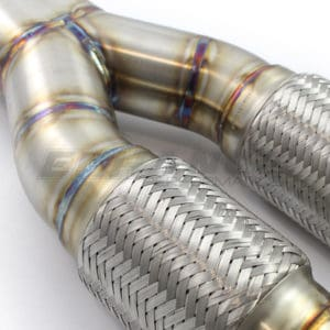 EP Nissan GT-R 4″ Large Bore Y-Pipe Secondary Cat Delete