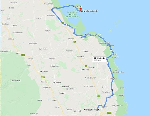 Alnwick Castle Lindisfarne Castle Map