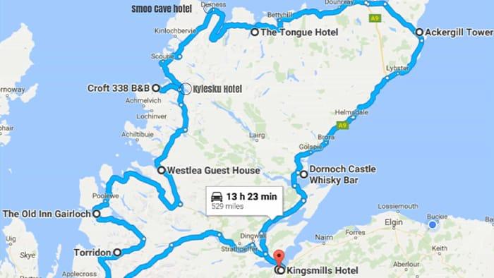 North Coast Scotland Map