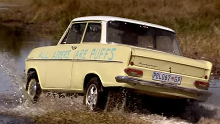 Old car off road on Top Gear